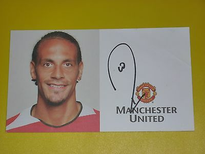 Manchester United Signed RIO FERDINAND Official Club Card Autocard