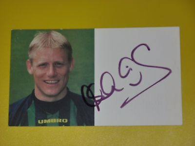 Manchester United Signed PETER SCHMEICHEL Official Club Card Autocard