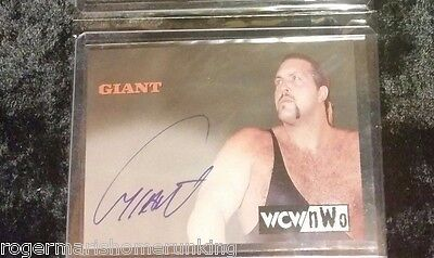 THE GIANT 1998 Topps WCW NWO ON CARD Auto Autograph BIG SHOW RC WWE PAUL WIGHT