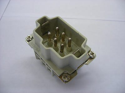Weidmuller (Harting Equivalent) 6 pole Connector Male Insert