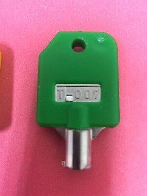 Tubular Lock Key T-007 GREEN for 1800 Candy Machines, 1-800 Vending Machine