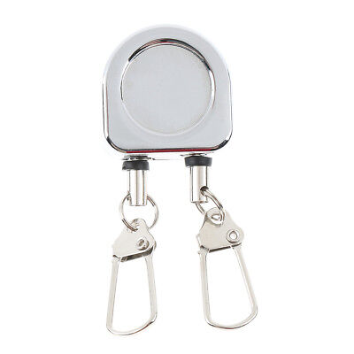 2 in 1 Coil Double Fly Fishing Tool Zinger Retractor Tool Pin-on Clip Cord