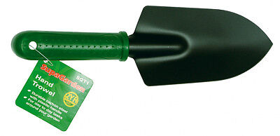SupaGarden Hand Trowel Carbon Steel With Plastic Handle Heavy Duty
