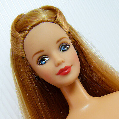Mackie Face Barbie Beauty Long Red Hair Strawberry Lips for OOAK Display or Play