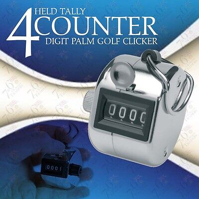 Tally Counter Brand New Hand Held Counters 4 Digit Palm Golf Clicker + Free Post