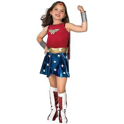 NEW DC Comics: Wonder Woman Deluxe Girls Costume M 8-10 Justice League Licensed