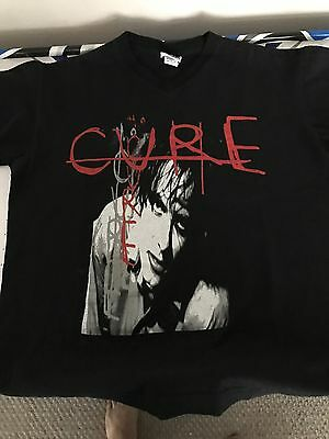 The Cure Robert Smith Bloodflowers V-neck T-shirt Vintage Concert Shirt