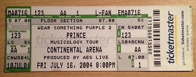 Prince Musicology 2004 Tour Concert Full Ticket Continental Arena New Jersey
