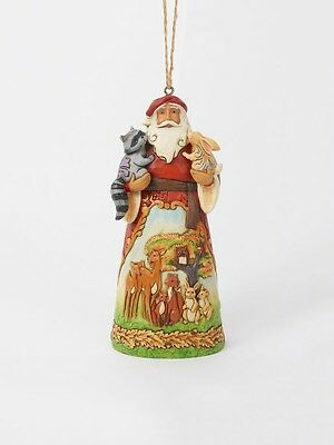Jim Shore*SANTA with WOODLAND ANIMALS ORNAMENT*New*NIB*Christmas*4049795