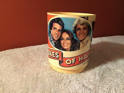 Vintage 1981 Dukes of Hazzard Plastic Coffee Cup Mug