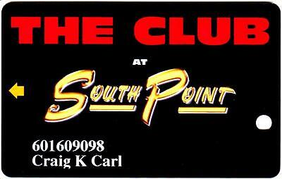 SOUTHPOINT hotel casino *THE CLUB at southpoint *las vegas slot/players card