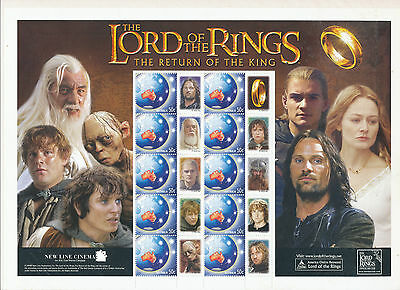 Australian Stamps: 2003 - Lord of the Rings - Return of the King - Sheetlet
