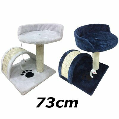 New Cat Tree Activity Centre Scratcher Scratching Post Pet Toys Play 73cm