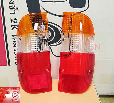 2 x REAR TAIL LIGHT LENSES LEFT RIGHT FOR FORD COURIER PE 1999 - 2002 2000 2001