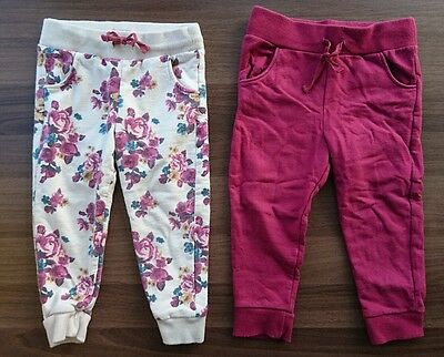 F&F 2 Pairs of Jogging Bottoms 18-24 Months