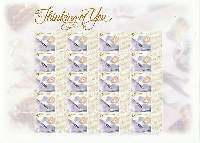 Australian Stamps: 1999 Greetings - Thinking of You - full sheetlet