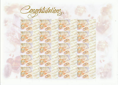 Australian Stamps: 1999 Greetings - Congratulations - full sheetlet