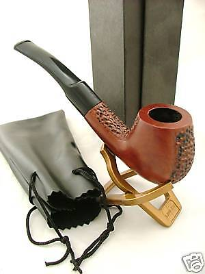 Wooden Smoking Pipe ASH Tobacco New Boxed Pouch Stand