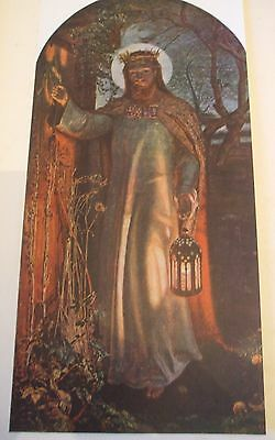 Antique Print C1930S The Light Of The World By William Holman Hunt Vintage Art