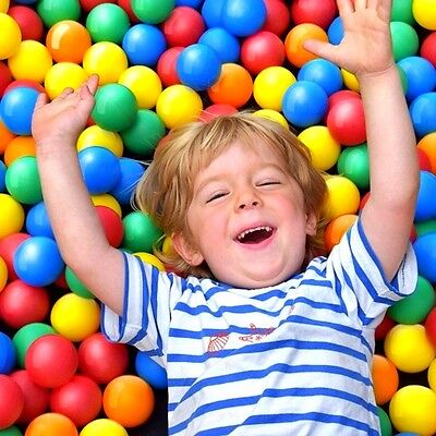 Assorted 1000 Ball Pit Balls Safety Kids Fun Toys Indoor Entertained Play Areas