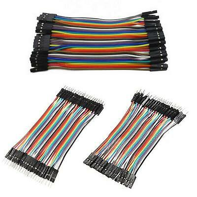 120pcs Dupont Wire Male to Male Male to Female Female to Female Jumper Cable GV