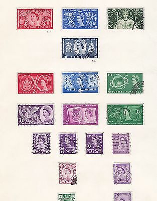 GREAT BRITAIN ^^^^^1955-57  used & mint  collection  hcv 8947sfo44