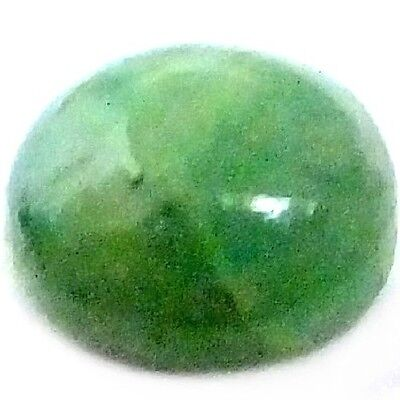 NATURAL COLOMBIAN GREEN EMERALD LOOSE GEMSTONES (8 x 6.9 mm) OVAL CABOCHON