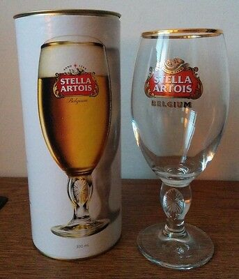 Stella Artois Belgium Beer 330 ml Limited edition Chalice Glass in gift box