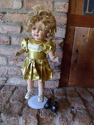 """Vintage 19 or 20"""" Composition Shirley Temple Doll"""