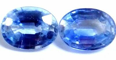 NATURAL MARVELLOUS TOP BLUE KYANITE LOOSE GEMSTONE (2 pieces) OVAL SHAPE