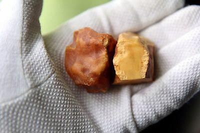 34g Vintage natural Baltic Sea butterscotch marble color rough amber 天然琥珀