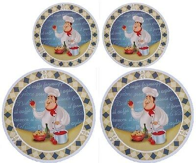 """Cooking Concepts Burner Cover Set of 4 - 2 Large 10"""" & 2 Small 8"""" - Chef"""