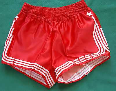 vintage shiny shorts SEB SPORT glanz gay sprinter run adidas trifoil 80 90 sz0 w