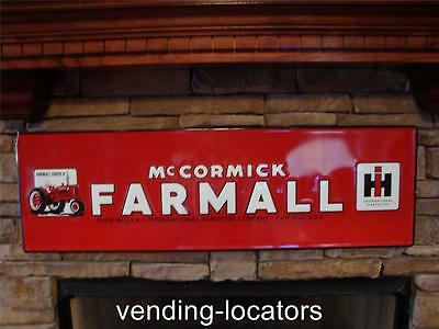 McCormick Farmall IH Vintage Retro Style Metal Tin Large Farm Sign Tractor New