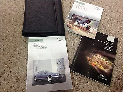 JAGUAR X-TYPE OWNERS MANUAL HANDBOOK  2003-2007 and AUDIO AND WALLET