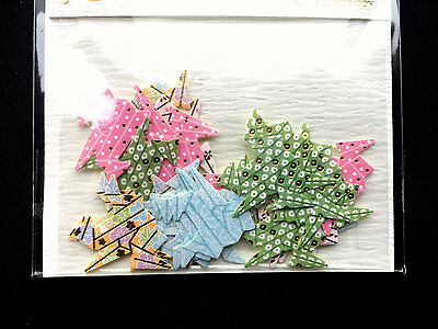 Origami Crane  Stickers  Japanese Sticker Flakes Chiyogami Paper Stickers (S202)