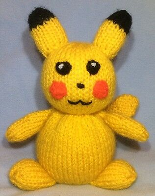 Knitted Pikachu Pattern : Pokemon Pikachu Toy Knitting Pattern   ?3.00 - PicClick UK