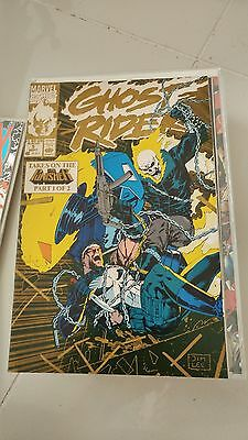 Ghost Rider #5 (1990) 2Nd Print Variant! Autographed Texeira! Saltares! Mackie!