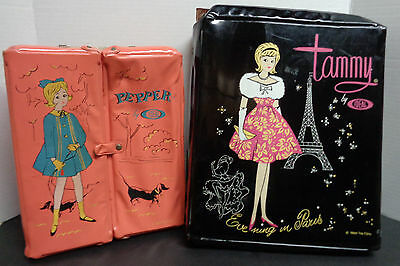 Ideal Barbie Doll Cases 1960's Tammy & Pepper