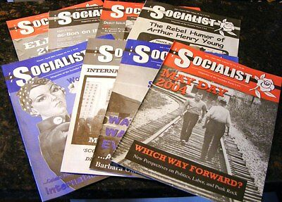 8 Issues 2003-2004 Socialist Party USA Magazine Eugene V. Debs Party