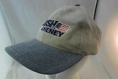 Bush Cheney 1990 Presidential Campaign Ball Cap VGC FREE SHIPPING