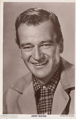 Postcard John Wayne film star Picturegoer Series #W 477  movie photo RP