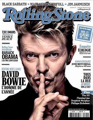 David Bowie Magazine Rolling Stone France Mag January 2017