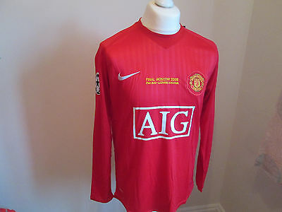 Manchester United 2008 Champions League Final Rooney (L) Shirt