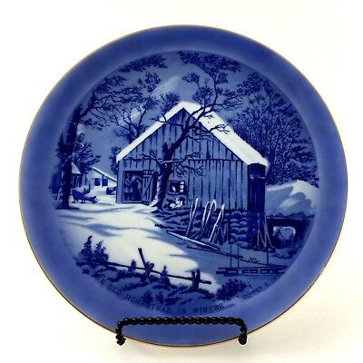 Collector Plate The Old Homestead In Winter Made In Japan Currier & Ives