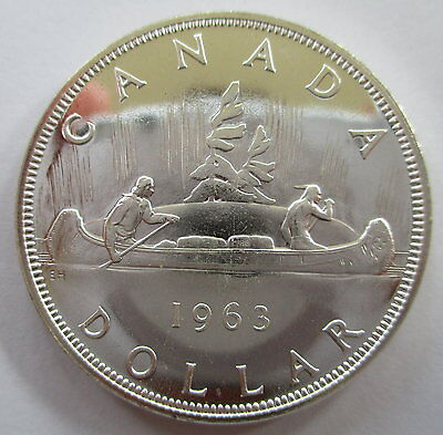 1963 Canada Voyageur Silver Dollar Proof-Like Coin