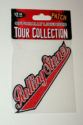 The Rolling Stones Classic Logo Concert Rock Band Cloth Patch New NOS MIB 2005