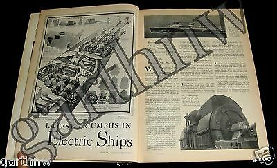 Ss Normandie 1933 Latest Triumph In Electric Motor Ship Propulsion Pictorial