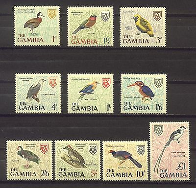 Gambia 1966; Birds; Short Set Of 10; Sc # 216, 217, 219, 220 And 222-227; Mnh