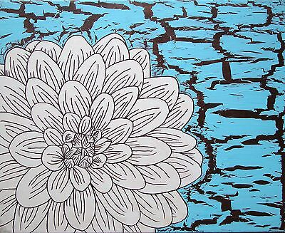 Abstract Flower 1 - Art Original Painting - Acrylic On Canvas